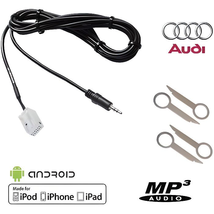 Cable auxiliaire mp3 autoradio jack blaupunkt grundig becker 8 pin ipod iphone