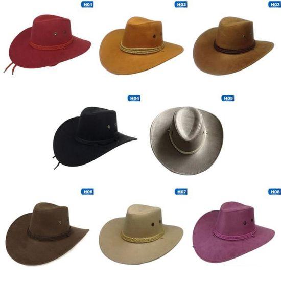 Chapeau de Paille Cowboy Rétro Occidental Costume Déguisement Hommes Neuf