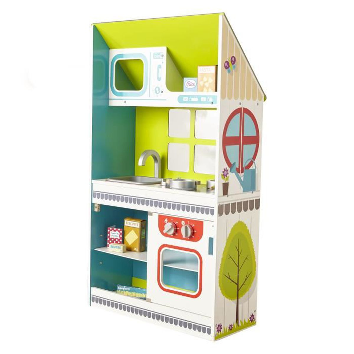 toys grande cuisine en bois pour enfant h100cm achat. Black Bedroom Furniture Sets. Home Design Ideas