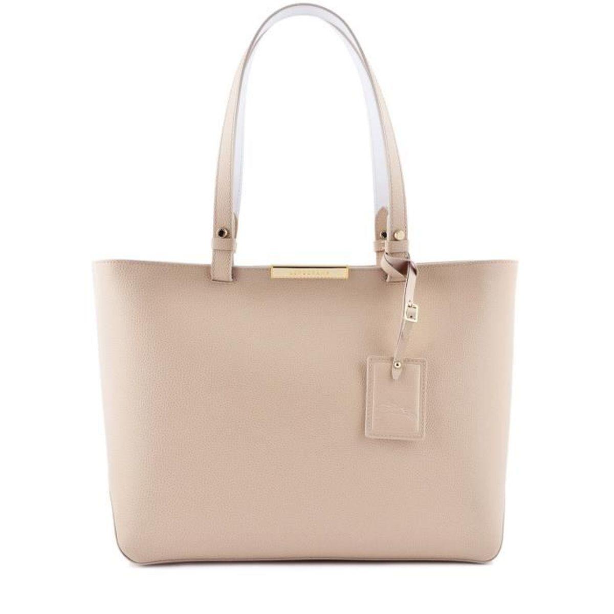 LONGCHAMP - sac femme porté épaule en cuir - IVOIRE FOULONNE CITY ...