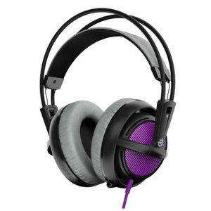 CASQUE  - MICROPHONE Steelseries casque Gaming Siberia 200 Violet