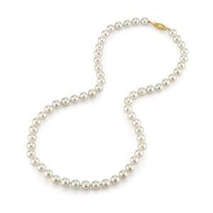 """8 mm black Akoya Shell collier de perles 18/"""" AAA Jolie"""