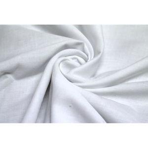 TISSU Tissu Voile Uni Polycoton Blanc -Au Mètre
