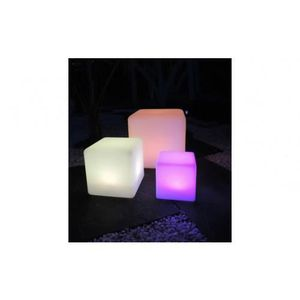 cube jardin lumineux achat vente pas cher. Black Bedroom Furniture Sets. Home Design Ideas