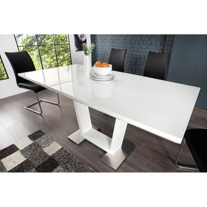table a manger extensible bois et blanc laque achat vente table a manger extensible bois et. Black Bedroom Furniture Sets. Home Design Ideas