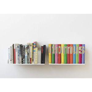 ETAGÈRE MURALE Teebooks Etagères Murales pour BD - Lot de 2 étagè