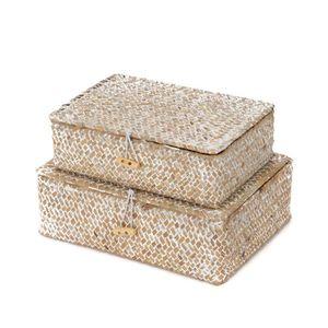 CASIER POUR MEUBLE Lot de 2 paniers beige Macao