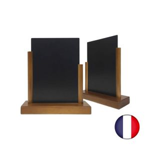 CHEVALET DE TABLE Porte menu de table en bois avec ardoise format A5