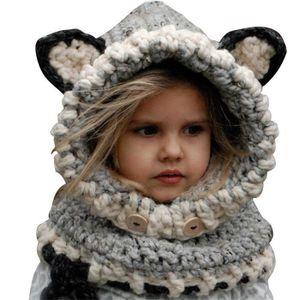 BONNET - CAGOULE Bonnet écharpe hiver enfant fille bébé cagoule cha