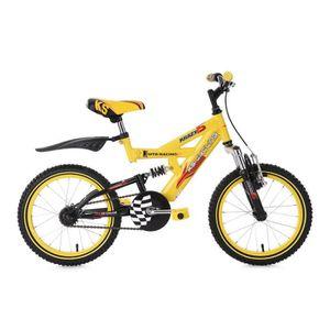 VTT enfant 16'' Krazy jaune TC 30 cm KS Cycling