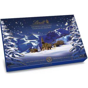 CONFISERIE DE CHOCOLAT LINDT Boîte de Paysage de Noël - 469 g
