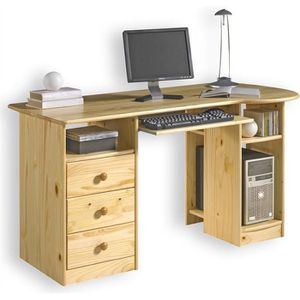bureau pin massif achat vente bureau pin massif pas cher cdiscount. Black Bedroom Furniture Sets. Home Design Ideas