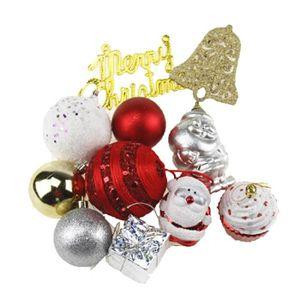 Verre Arbre de Noël Babiole ARGENT /& ROSE Père Noël Ornement