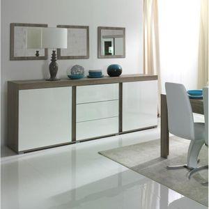 BUFFET - BAHUT  Buffet grand modèle + miroirs STEFANO. Coloris son