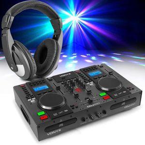 PLATINE DJ Double lecteur CD VONYX CDJ450 - MP3 - USB - Bluet