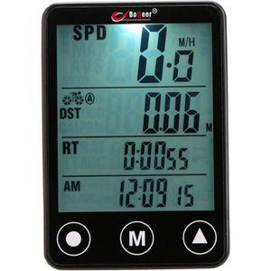 COMPTEUR POUR CYCLE Compteur vitesse vélo sans fil multifonctions tact