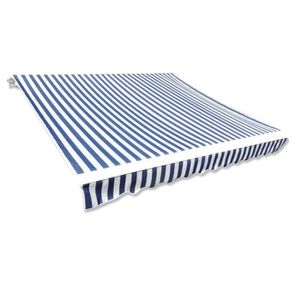 STORE - STORE BANNE  vidaXL Store banne en toile Bleu et Blanc 3 x 2,5