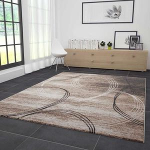 Tapis salon marron et noir
