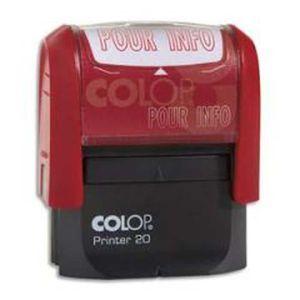 Personnalis/é A-Z Alphabet Stamp en Monogram Red Ink ronde Tampon auto encreur initiale COLOP Mini Stamper 12 mm