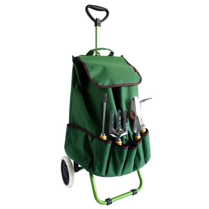 BROUETTE Chariot de jardin MUNDUS + 4 outils : griffe, four
