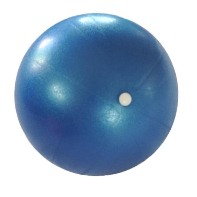 25 cm exercice fitness gym Smooth yoga ball bleu