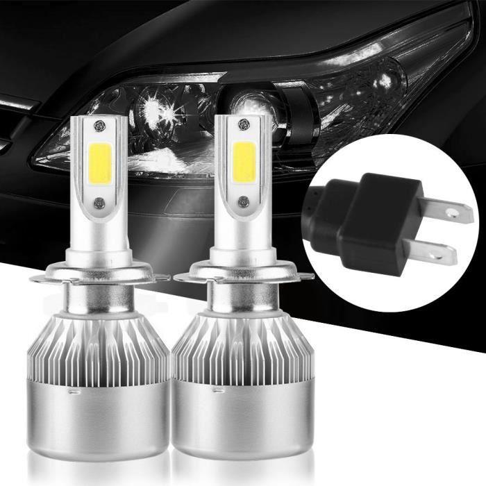 2pcs T2 H7 110W Phares de Voiture LED COB Lampe de Conduite Ampoules Blanc 6000K