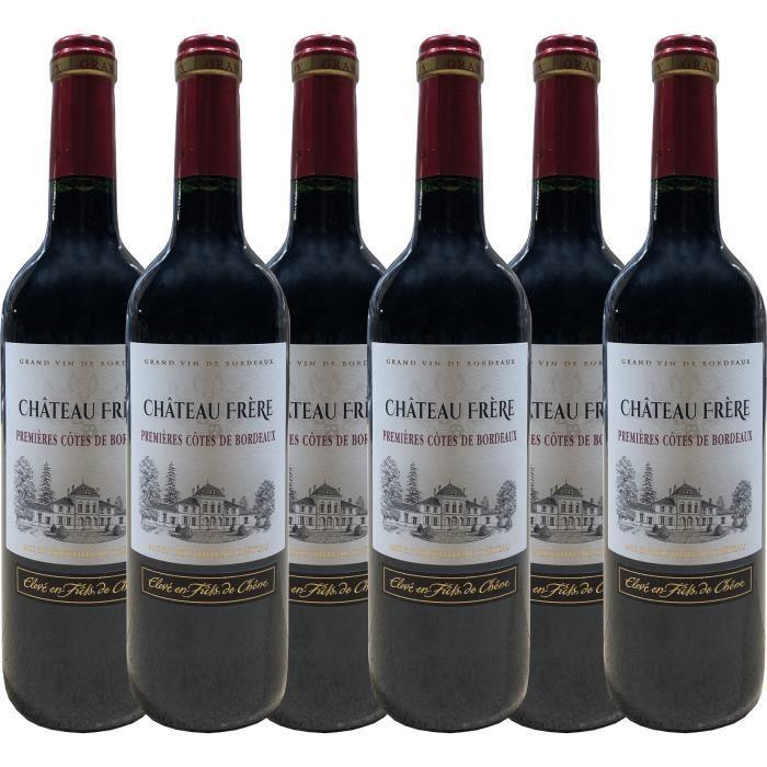 Château Frère 2008 - vin rouge - 1ères Côtes de Bordeaux AOC rouge - lot de 6 bouteilles.