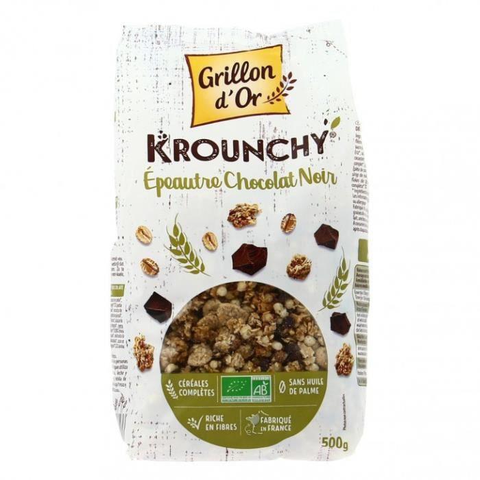 Grillon d'or - Krounchy épeautre chocolat noir 500gr