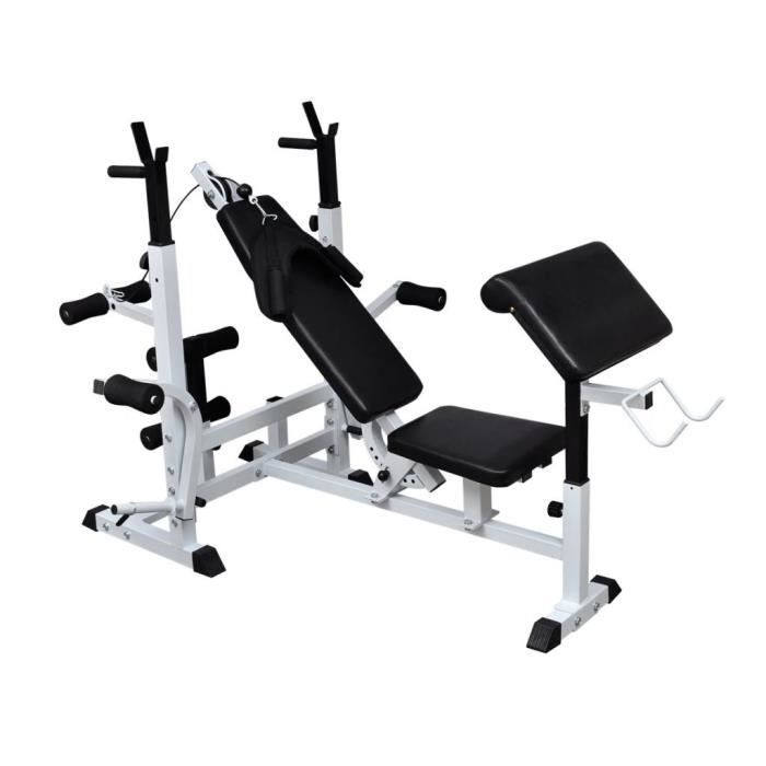Magnifique-Banc de musculation appareil à abdo Banc d'entraînement abdominaux - #E#3022