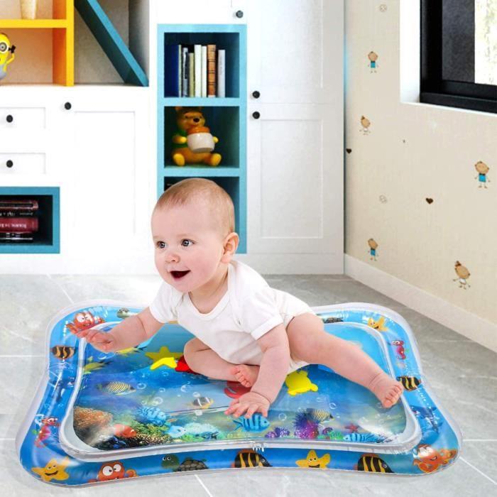 Tapis d'eau Gonflable pour Bébé Tapis de Jeu Gonflé Coussin Gonflable de Rempli d'eau Amusement d'activité d'enfant Aider Développer