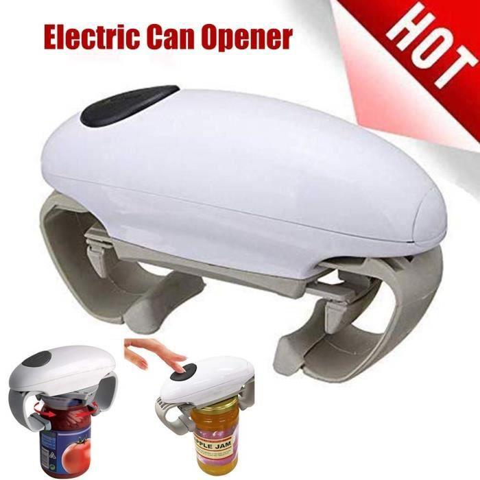 Ouvre Boite de Conserve Electrique One Touch Ouvre Bocal Automatique, la Bordure est Nette et Lisse