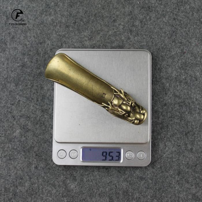 Cuillère,Laiton cuivre tête de dragon thé pelle bonbons Grain café grains BBQ glace sucre farine Scoops - Type brass Pure copper