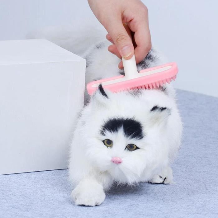 Qiilu peigne de toilettage pour chiens Brosse de peigne de toilettage de nettoyage de poils d'animaux de compagnie ergonomique