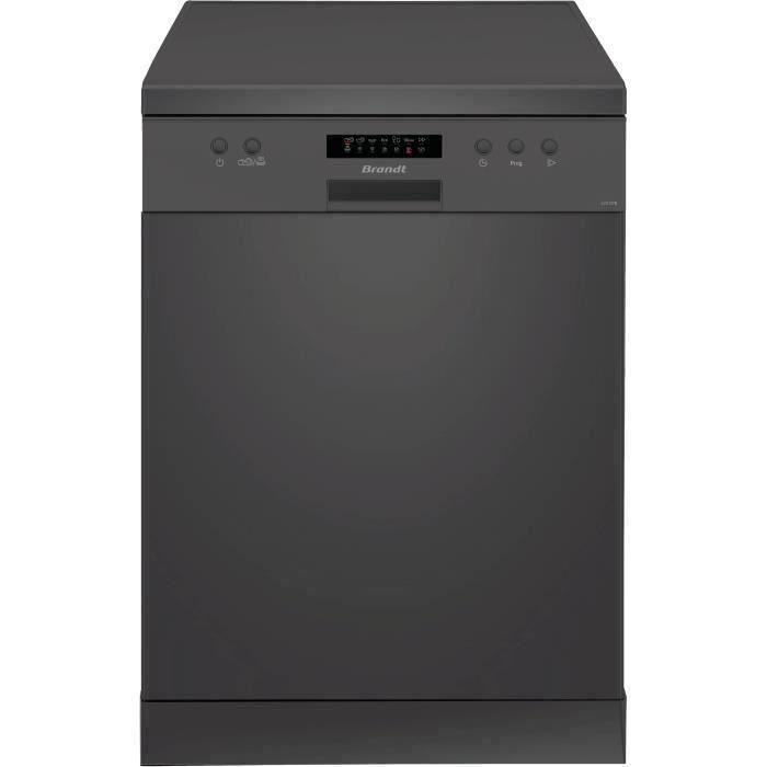 Lave-vaisselle pose libre BRANDT LVC137B - 13 couverts - Largeur 60 cm - Classe A++ - 47 dB - Noir