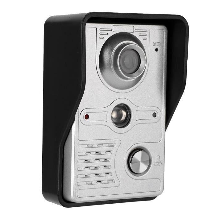 Sonnette vidéo,7in Video Doorbell Intercom TFT Touch Screen Night Vision Door Phone