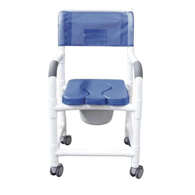 CARELINE Chaise de douche et de toilette, charge maximale 136 kg, blanc