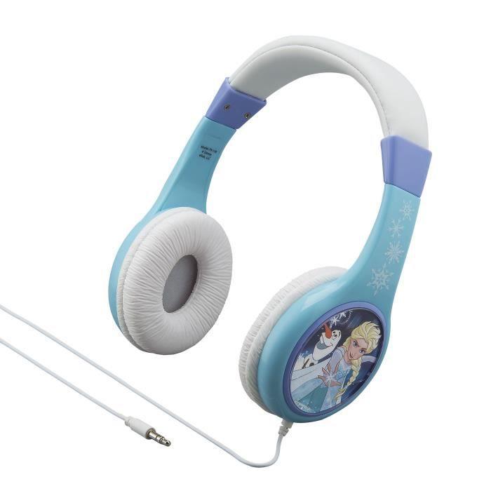 REINE DES NEIGES casque audio enfant Kidsafe - Arceau réglable pour enfant