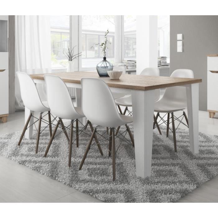 Table à manger scandinave LIER blanc/MDF 180 cm