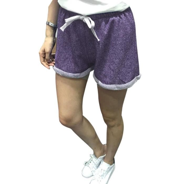 Minetom Femme Sport Shorts Yoga Jogging