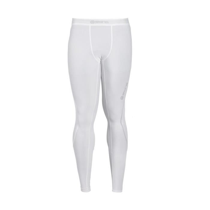 Collant compression de running Skins DNAmic Blanc