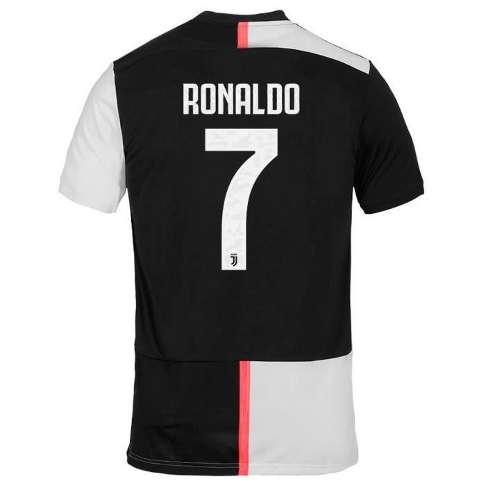 Maillot Homme Adidas Juventus de Turin Domicile Saison 2019-2020 Flocage Officiel Ronaldo Numéro 7