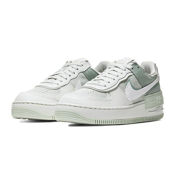 Baskets Air Force 1 Shadow CW2655-001 Chaussures de Course pour Femme Gris Vert