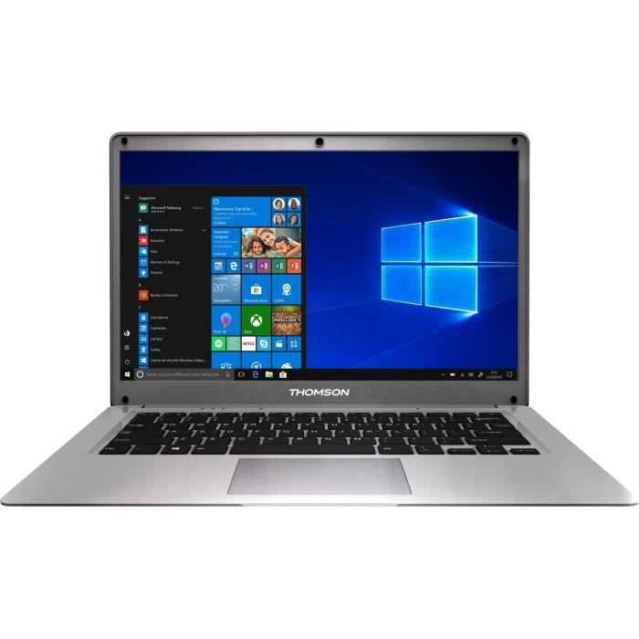 Ordinateur Portable - THOMSON NEO14A - 14,1'' HD - Intel® Atom™ Quad Core E8000 - RAM 4Go - Stockage 512Go SSD - Windows 10 - Silver