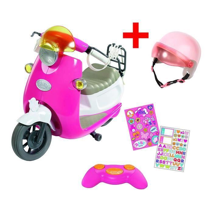 Set Scooter City RC de BABY born avec casque (nouveau modèle)