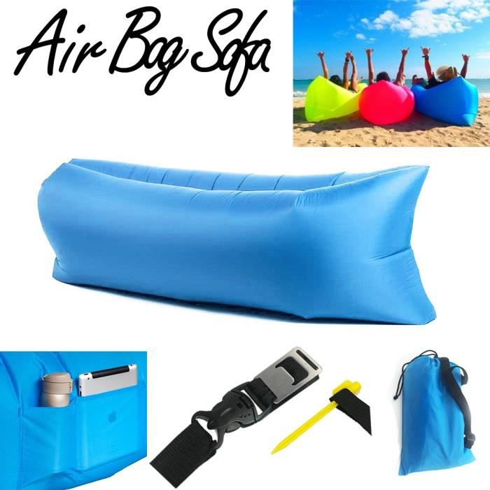 air bag sofa laybag canap gonflable bleu achat vente fauteuil jardin air bag sofa laybag. Black Bedroom Furniture Sets. Home Design Ideas