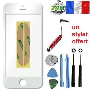 vitre apple iphone 5s blanc kit outils stylet offert pour reparer votre ecran lcd achat ecran. Black Bedroom Furniture Sets. Home Design Ideas