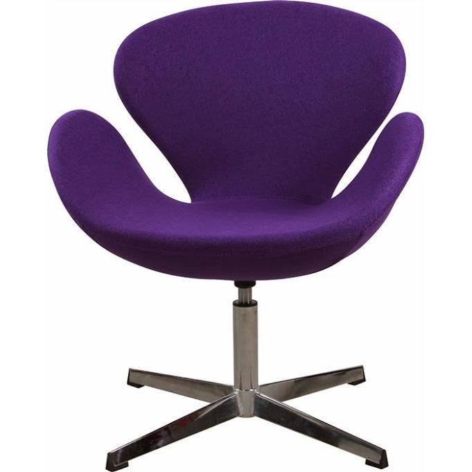 fauteuil design pivotant sw t tissu violet achat. Black Bedroom Furniture Sets. Home Design Ideas