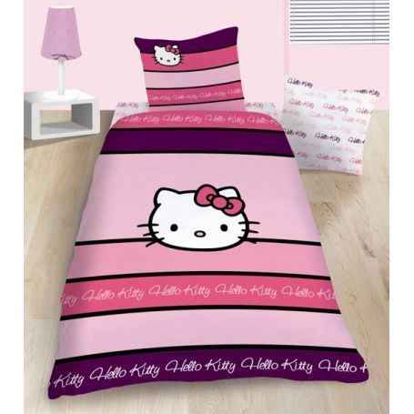 Housse de couette reversible hello kitty achat vente for Housse couette hello kitty