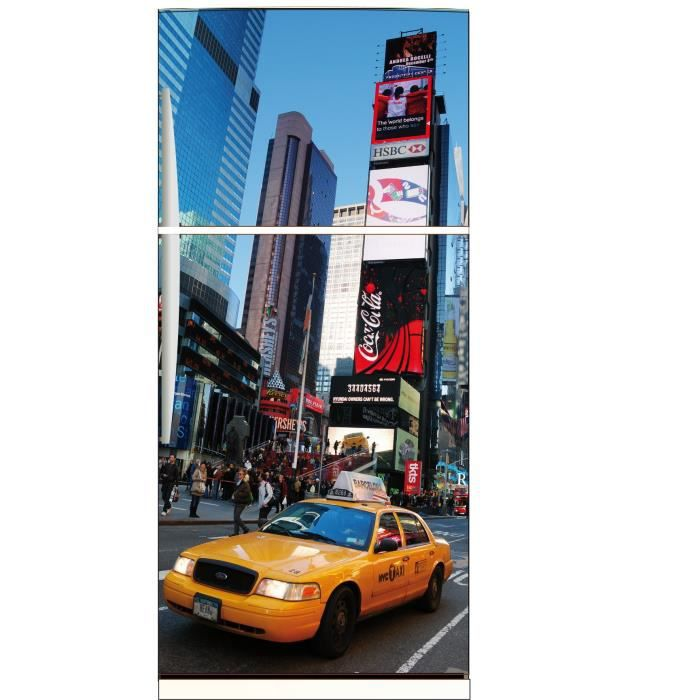 Sticker frigo d co cuisine new york taxi jaune achat for Deco cuisine new york