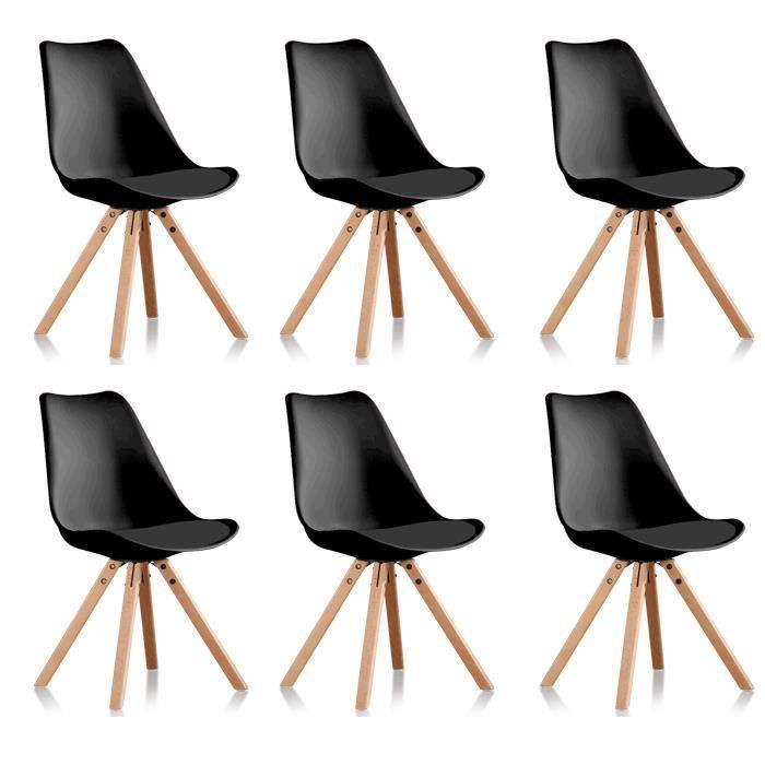 chaises noires trendy chaises noires restaurant en. Black Bedroom Furniture Sets. Home Design Ideas
